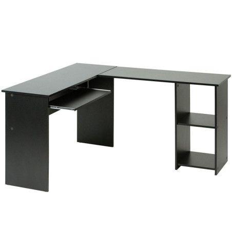Kulmapöytä tietokoneelle musta