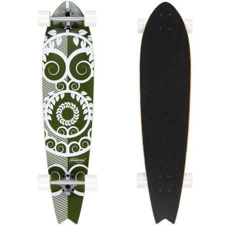 Longboard - Vihreä kuvio