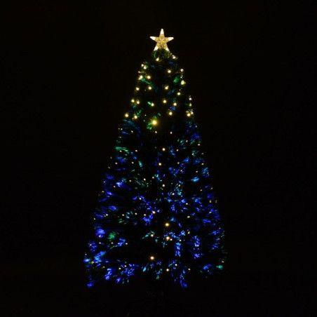 Muovijoulukuusi LED-valoilla (120 cm)