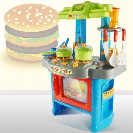 Lasten sininen leikkikeittiö