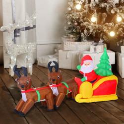 Puhallettava joulupukki...