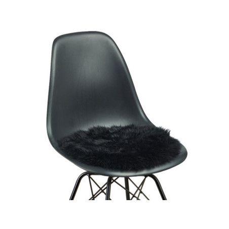 Lampaanvilla istuinpehmuste, musta
