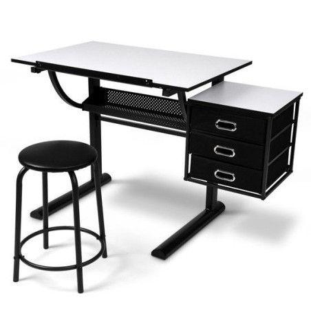 Piirustuspöytä ja jakkara