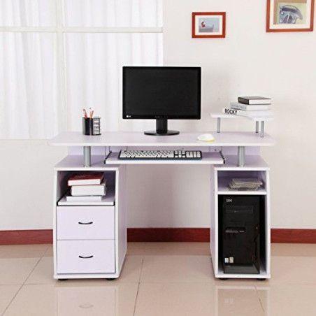 Tietokonepöytä - valkoinen