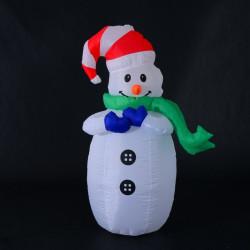 Puhallettava lumiukko