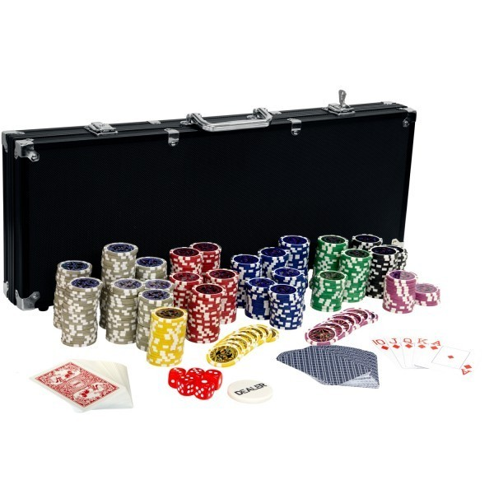 Pokerisetti 500 pelimerkkiä BLACK EDITION