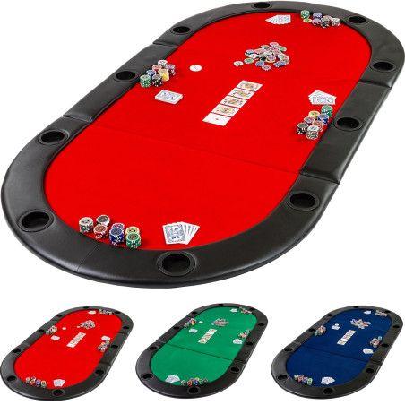 Taitettava pokerialusta, 3 väriä