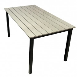 Ruska-pöytä 150x80cm, harmaa