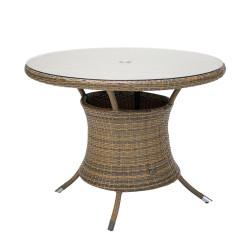 Pöytä WICKER D100xH76cm