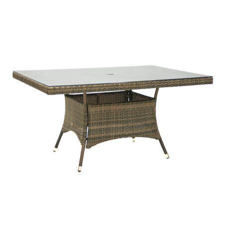 Pöytä WICKER 150x100x74cm