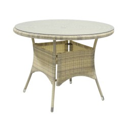 Parvekepöytä WICKER 100x71cm