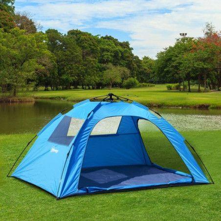 Outsunny 2 hengen pop-up teltta, sininen