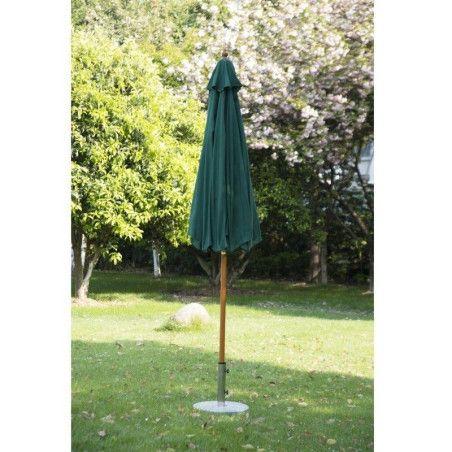 Outsunny Puinen aurinkovarjo 2,7m (vihreä)