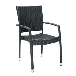 Tuoli WICKER-3 käsinojilla