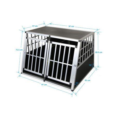 Koiran kuljetushäkki XL, alumiini