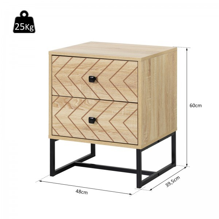 Yöpöytä, puinen