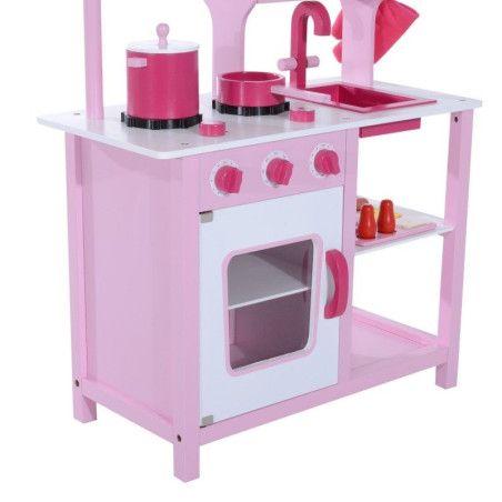 Lasten leikkikeittiö tarvikkeineen - pinkki