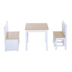 Lasten puinen pöytäsetti