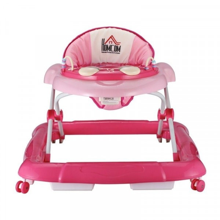 Vauvojen kävelytuoli, vaaleanpunainen