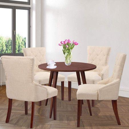 Pehmustetut Ruokapöydän tuolit 4kpl