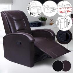 Nojatuoli, ruskea