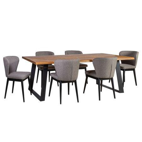 ROTTERDAM ruokailuryhmä, pöytä & 6 tuolia