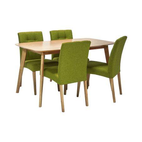 ENRICH ruokailuryhmä, pöytä & 4 tuolia