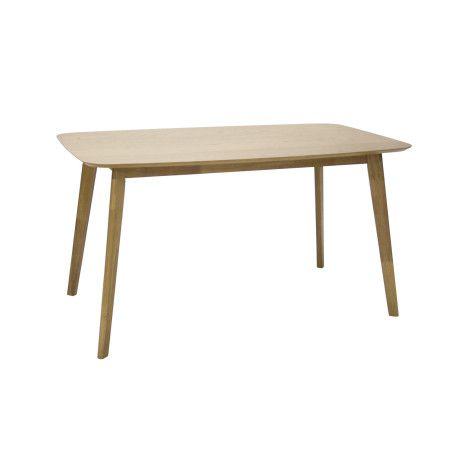 ENRICH ruokailuryhmä, pöytä & 4 ruskeaa tuolia