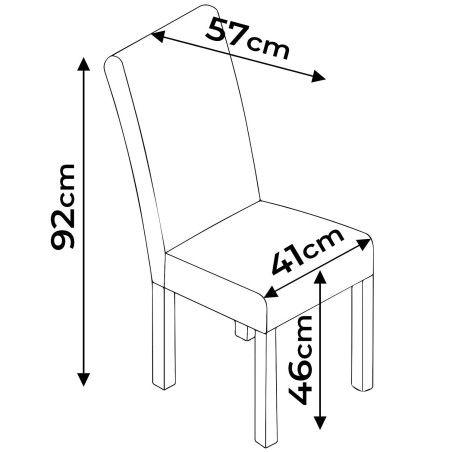 Ruokapöydän tuolit 4 kpl, musta