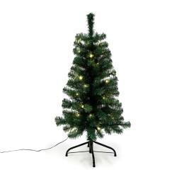 Joulukuusi 90 x 48 cm valoilla