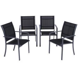 Puutarhatuolit 4kpl, tumma