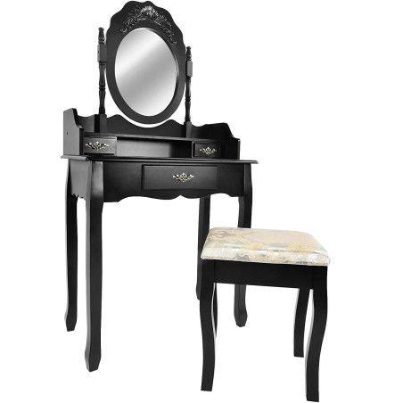 Musta meikkauspöytä barokkityylinen 2