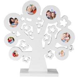 Kuvakollaasipuu, valkoinen