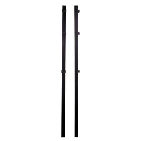 Musta tolppa X- ja O -paneeliaidalle, 40x40x1500 mm