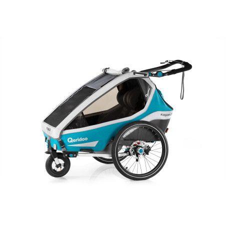 Qeridoo KidGoo2 Sport polkupyörän peräkärry 2020, sininen tai harmaa