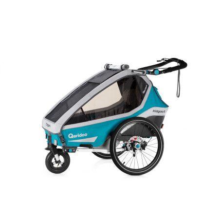 Qeridoo KidGoo1 Sport polkupyörän peräkärry 2020, sininen tai harmaa
