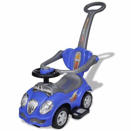 Lasten istuttava leluauto työntökahvalla Sininen
