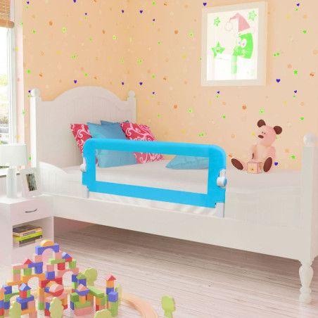 Turvalaita lapsen sänkyyn 102 x 42 cm sininen