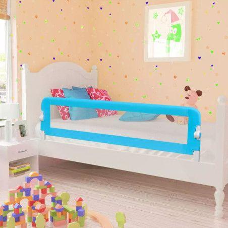 Turvalaita lapsen sänkyyn 150 x 42 cm sininen