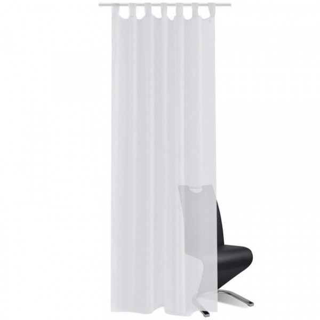 Valkoiset Sheer Verhot 140 x 225 cm 2 kpl