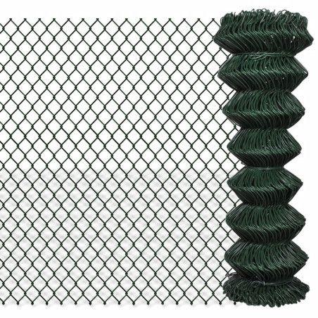 Verkkoaita galvanoitu teräs 1,25x15 m vihreä