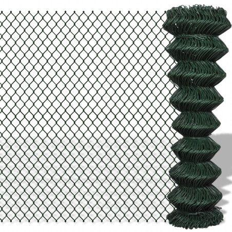 Verkkoaita galvanoitu teräs 1,25x25 m vihreä