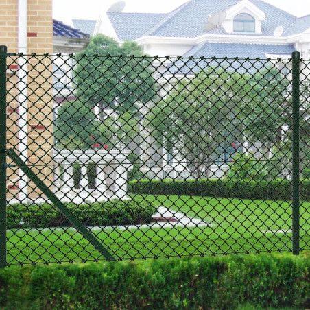 Verkkoaita tolpilla galvanoitu teräs 1x25 m vihreä