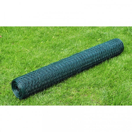 Kanaverkko PVC pinnoitteella 25x0,5 m vihreä, silmäkoko 13mm