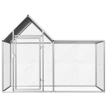 Kanahäkki 2x1x1,5 m galvanoitu teräs