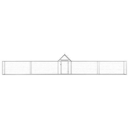 Kanahäkki 9x1x1,5 m galvanoitu teräs