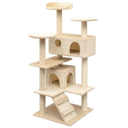 Kissan raapimispuu sisal-pylväillä 125 cm Beige