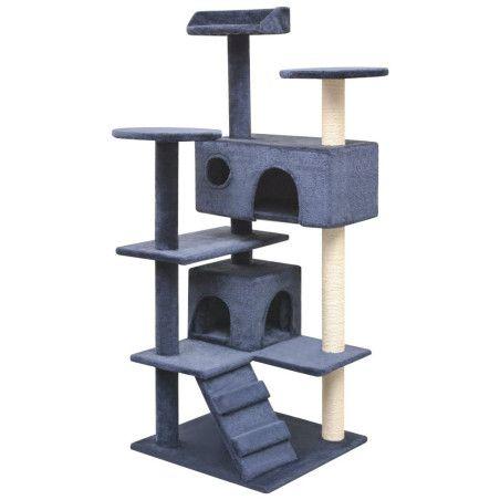 Kissan raapimispuu sisal-pylväillä 125 cm Tummansininen