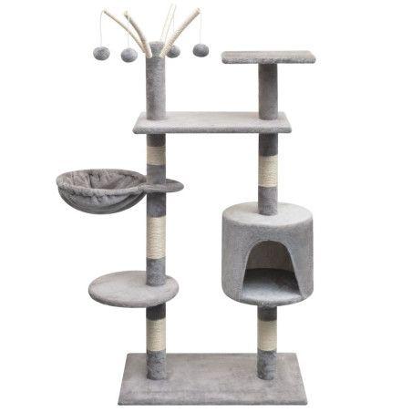 Kissan raapimispuu sisal-pylväillä 125 cm Harmaa