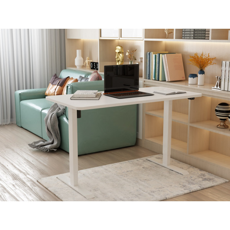 Sähköpöytä 120 x 60cm Valkoinen/Tammi